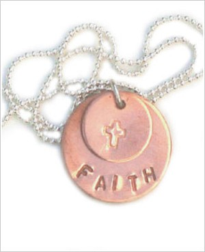 ~ Circle Of Sentiments Whimsical *Faith* Necklace