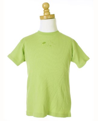 De Floriane Lime Ribbed Tee
