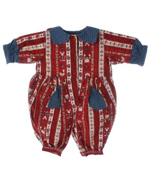 6m Deux Par Deux Red And Blue Romper