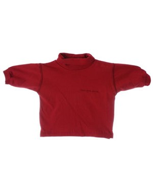 6m Deux Par Deux Red L/S Turtleneck Shirt