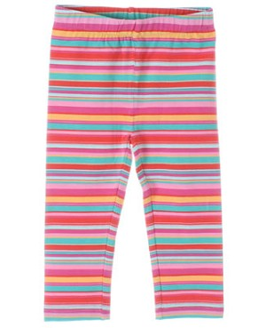 Deux Par Deux Multi Color Striped Leggings