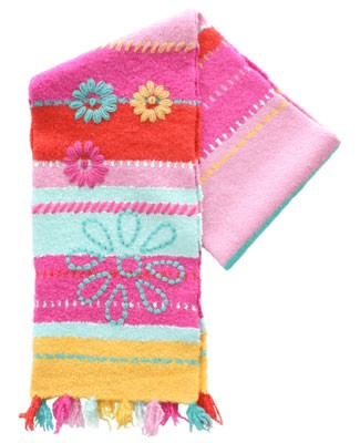 Deux Par Deux Multi Color Striped Soft Knitted Scarf