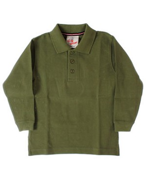 GT Olive Pique L/S Polo Tee