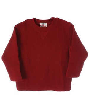 GT Red L/S Waffle Tee