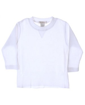 GT White L/S Waffle Tee