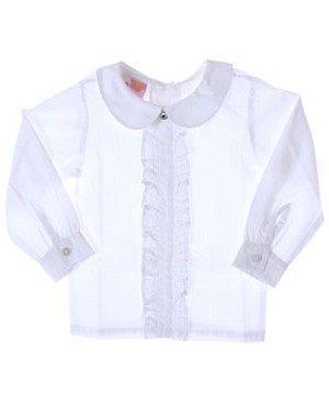 GT White Ruffle Blouse