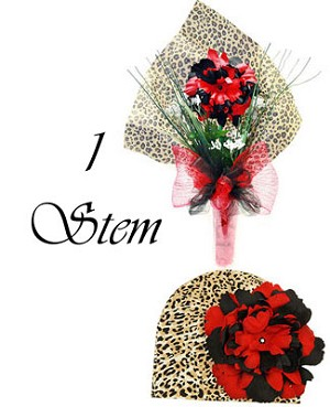 Z: Lovely Little Leoprd Hair Accessory Bouquet *1 to 7 Stems*
