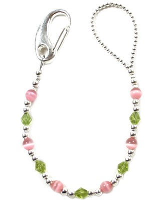 II: Klassy Pacy Clips Pink and Green Pacifier Clip