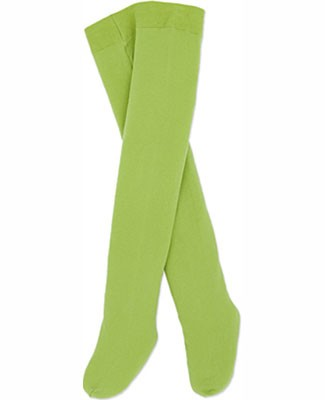 Le Top Solid Green Pima Tights