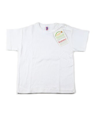 : Creation Stummer White Ribbed Short Sleeve Tee