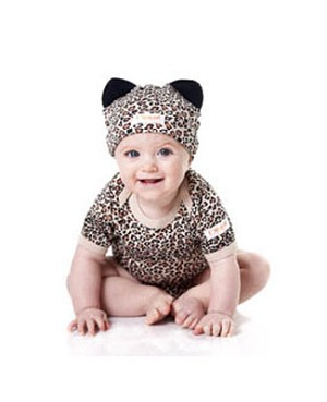 Noo Wear Cheetah 2pc Bodysuit & Hat Set
