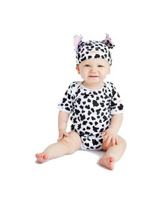 Noo Wear Cow 2pc Bodysuit & Hat Set