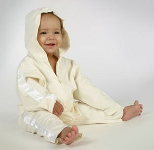 : Ooh Baby Cream Hip Hop Hooded Jacket & Pant Set
