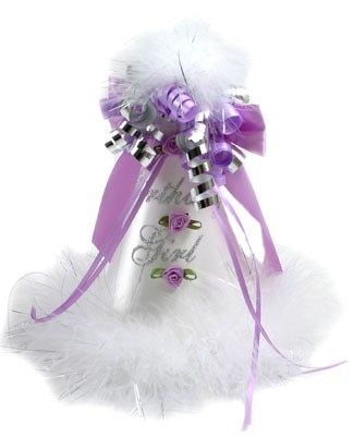 *Birthday Girl* Silver/Purple Flower Party Hat