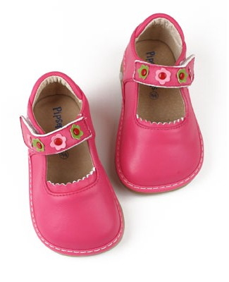 II: Rainbow Steps HOT PINK Leather Shoe *SQUEAKS*