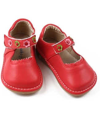 II: Rainbow Steps BRIGHT RED Leather Shoes *SQUEAKS*