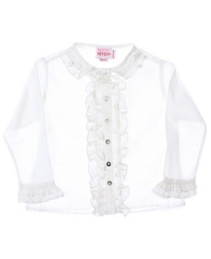 Room Seven White Cambric Blouse