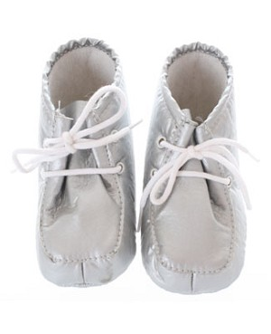 Silver Infant Booties
