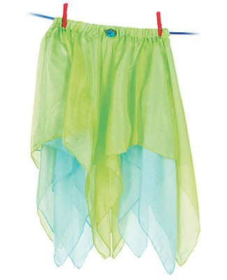 Sarah's Silks Mint/Aqua Reversible Fairy Skirt