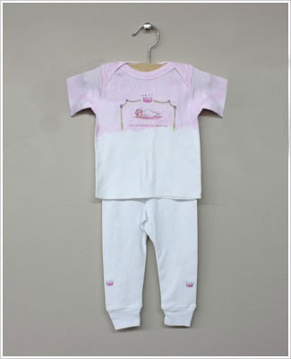 She's The One Pink/White *...The Princess Has Arrived* 2 Pc S/S Set