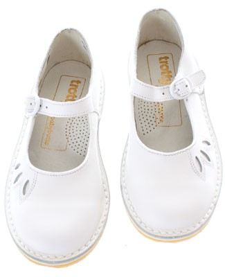 Trotty de Babybotte *Emilie* White Leather Shoe