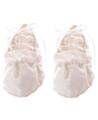 II: Tosha Hays Ivory Lace Up Booties