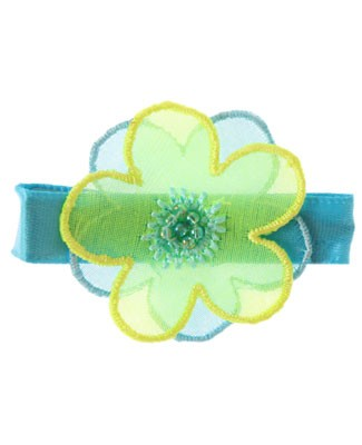 II: Wee Ones Blue And Yellow Flower Clippie