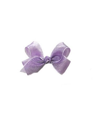 II: Wee Ones Shimmer Bows *WHITE & LAVENDER*