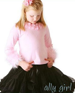 II: Ally Girl Fur Cuff Shirt *PINK*