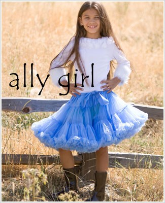 Ally Girl Pettiskirt *BABY BLUE* (petite - tween)