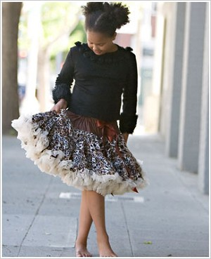 Ally Girl Pettiskirt *CHEETAH* (petite - tween)