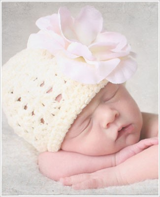 Ally Girl Rose Chenille Beanie Hat *Many Colors*