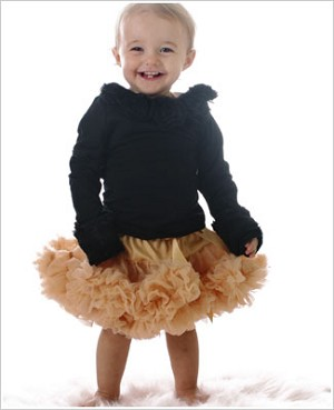 Ally Girl Infant Dropwaist Pettiskirt *GOLD*