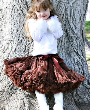 Ally Girl Pettiskirt *BROWN* (petite - tween)