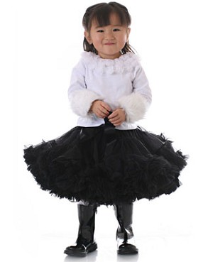 II: Ally Girl Pettiskirt *BLACK* (petite - tween)