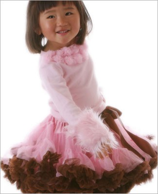 Ally Girl Pettiskirt *PINK/BROWN* (petite - tween)