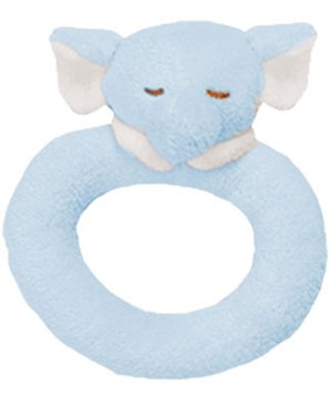 Angel Dear Blue Elephant Ring Rattle