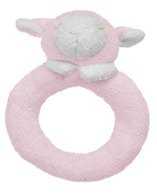 Angel Dear Pink Lamb Ring Rattle