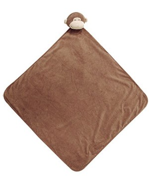 Angel Dear Brown Monkey Napping Blanket