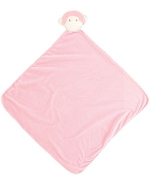 Angel Dear Pink Monkey Napping Blanket