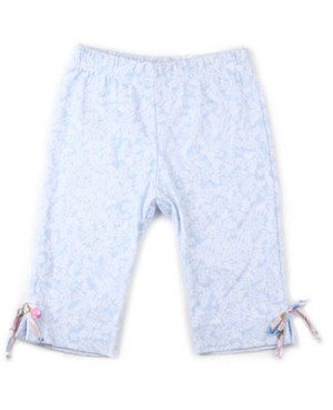XL (8y/10y) II: Baby Nay Pretty Blue Paisley 3/4 Pant Legging