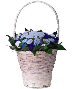 The Baby Bunch Classic Premium Blue Bunch in a Basket