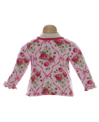 II: Baby Lulu Ribbon Rose L/S Velour Shirt
