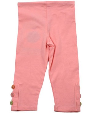 II: Baby Lulu COCO BEAN Pink Leggings *BUTTONS*