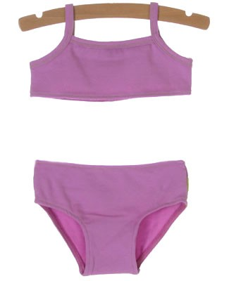 12m II: Baby Lulu Purple 2 Pc Ruffle Swimsuit