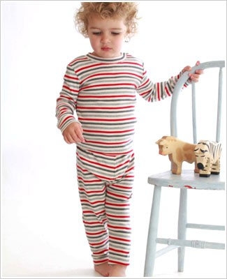 Baby Lulu Holiday P.J.'s Red/Grey Stripe 2pc Jammies