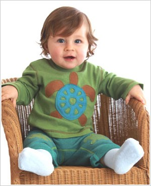 Baby Lulu Pepper Toes TURTLE Green L/S Tee