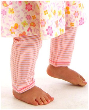 Z: Baby Lulu LITTLE BIRDS ORGANIC Stripe Leggings