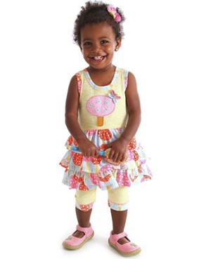 Z: Baby Lulu PORCINI Gisele Tiered Ruffle Dress