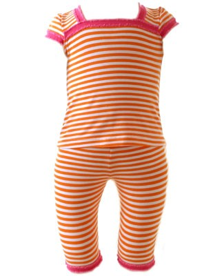II: Baby Lulu Orange/White Striped Tee